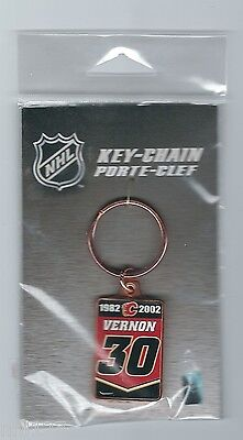 Calgary Flames NHL #30 Mike Vernon Commemorative Retirement Keychain 2.6.2007