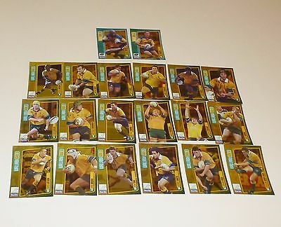20 X WALLABIES WEET-BIX TRADING CARDS ( 18 Wallabies Gold 2 New Gold ) FULL SET
