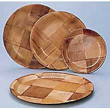 Woven Wood Round Plate, 10in. -- 12 per case