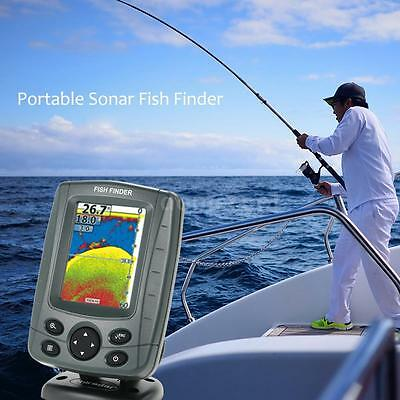 Portable Ff688C 1000Ft/300M Sonar Boat Fish Finder Audible Fish&depth Beam A4P5