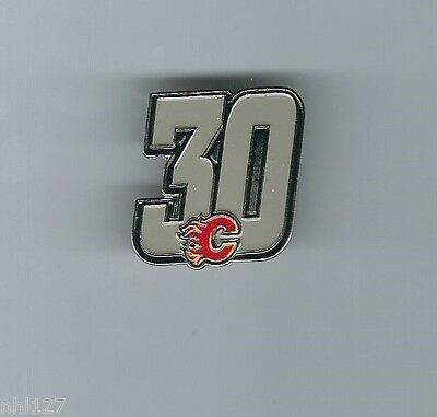 Calgary Flames NHL #30 Mike Vernon Commemorative Retirement # Lapel Pin 2.6.2007