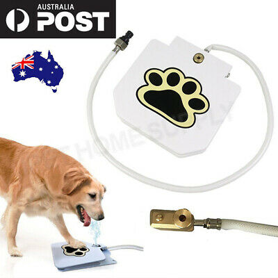Outdoor Step Spray Dog Pet Paw Pedal Water Fountain Drinking Feeder Upgrate AU