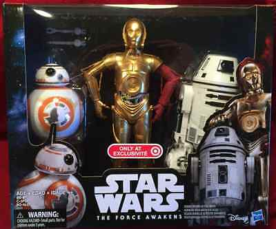 Star Wars Force Awakens TARGET EXCLUSIVE DROIDS C-3PO, BB-8 & RO-4LO
