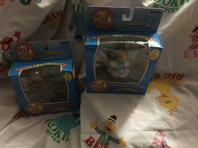 """1995 TYCO VERMONT TEDDY BEAR POCKET COLLECTION """"PLAYTIME BEAR & Home Sweet Home"""