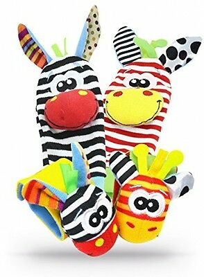 Wrist Bands Baby Socks Bell Rattles Adorable Animal Play Toy Youth Toys Boys Kid