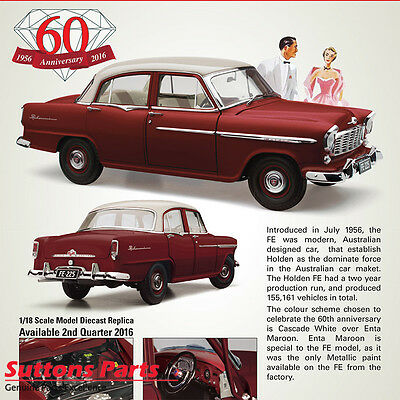 New Authentic Holden Fe Special Maroon Over White 1: 18 Model Part 43-18600