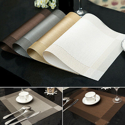PVC Insulation Bowl Tableware Placemats Place Mat Table Coasters Dining Sales