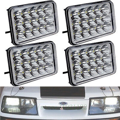 4PC 4X6 LED Headlights HID Bulb For Kenworth Peterbilt Chevy Truck FREIGHTLINER