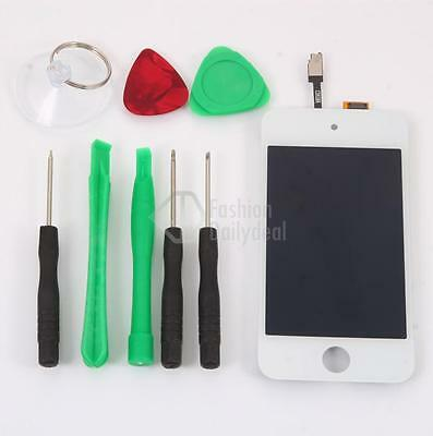 LCD Screen Replacement Digitizer Assembly + Tools For White iPod Touch 4 4th Gen