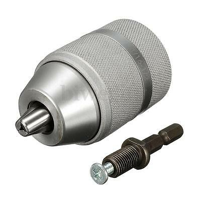 2-13mm 24 UNF Solid Steel Keyless Drill Chuck / Removable Quick Change Shank