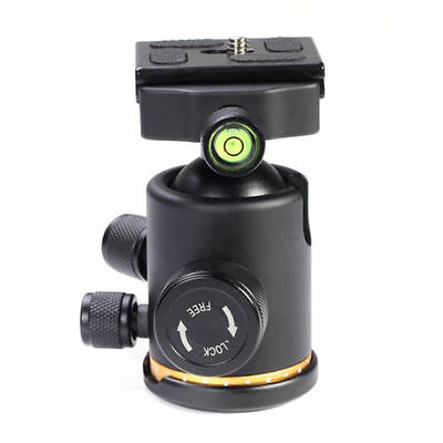 "12Kg Metal Tripod Ball Head Ballhead Swivel w/ 1/4"" Quick Release Plate QR DSLR"