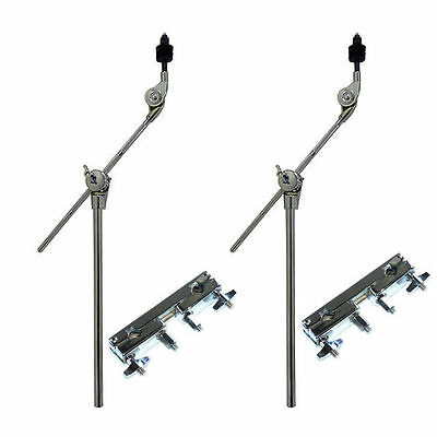 Cymbal Boom Arm + Accessory Clamp 2 Pack Professional DP Drums 5 Year Warranty