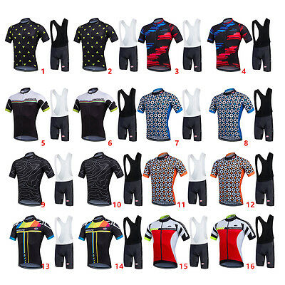 Cycling Bike Short Sleeve Jersey + Bib Shorts Set Suit Sportwear S-XXXL