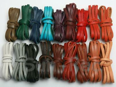 DIY Jewelry Crafts 3mm 4mm 5mm 18color Flat Real Genuine Hide Leather Cord Thong
