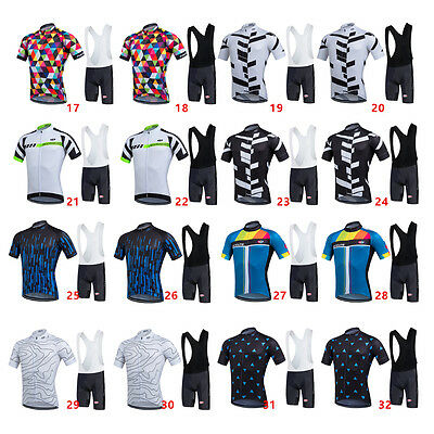 Outdoor Sport Men's Short Sleeve Cycling Jersey & 3D Padded Bib Short Set
