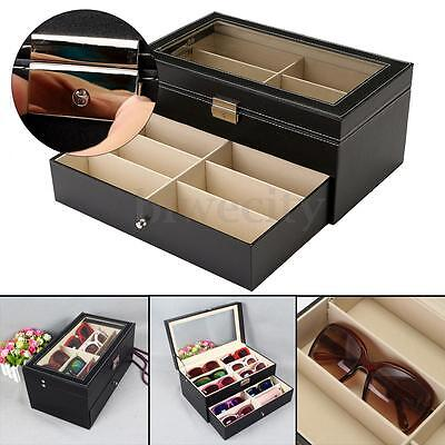 12 Slot Eyeglass Sunglasses Glasses Storage Display Case Box Holder Oversized