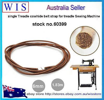 "72""(183cm) Leather Belt Treadle Parts With Hook For Singer Sewing Machine-60399"