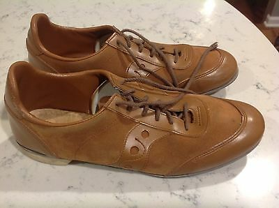 Vintage Hyde suede finish Tan Bowling Shoes MENS 10