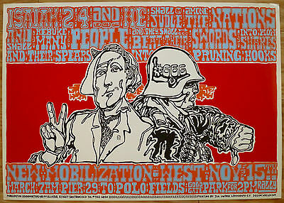 New Mobilization West Original Anti Vietnam Protest Poster By Wes Wilson 1966