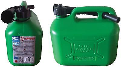 New 5L Plastic Fuel Jerry Can With Spout Petrol Diesel Water Oil Easy To Carry