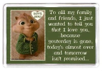 Mouse Family Friend Love Stamp Day Week Time Quote Gift Fridge Magnet