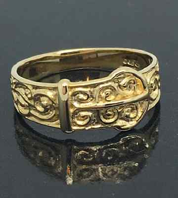 Beautiful Child's / Baby SOLID 9 Carat Gold Buckle Ring