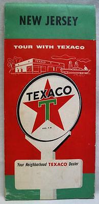 Texaco Oil Service Station State Of New Jersey Highway Road Map 1958 Vintage