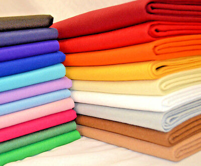 Quality 100% Acrylic Felt Fabric 1-3mm thick - sold per metre, Half Metre, Craft