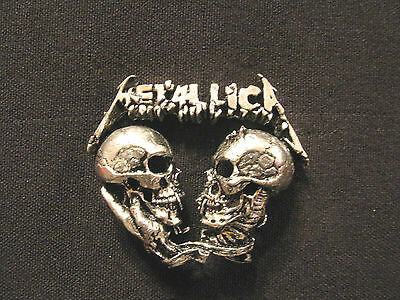Metallica Vintage 1993 Official Pewter Pin Button Badge Uk Made Poker