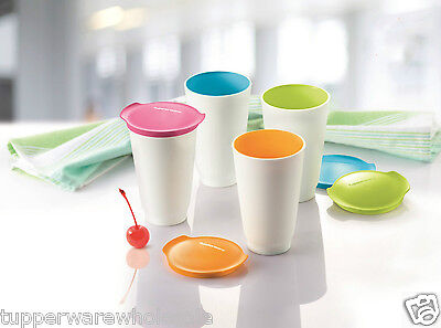 New Tupperware Allegra Tall Cups 450ml 4pc Set