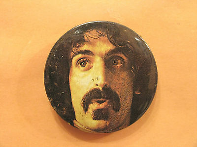 """FRANK ZAPPA LARGE VINTAGE BADGE  BUTTON PIN UK MADE  2 1/2""""  70's"""