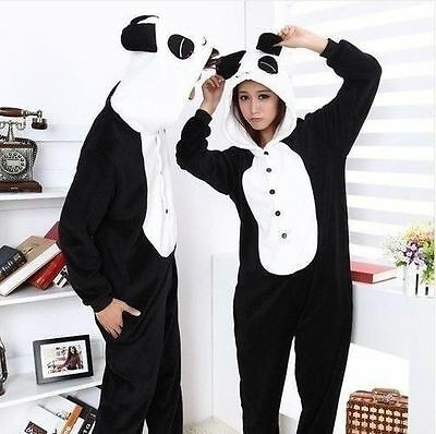 Hot Unisex Adult Pajamas Kigurumi Cosplay Costume Animal Onesie Panda