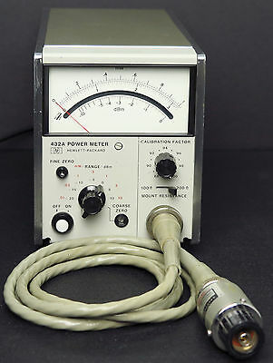 HP / Keysight 432A Analog Power Meter with HP 478A Thermistor Mount & Cable