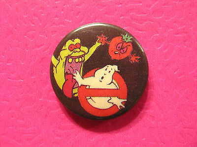 Vintage Ghostbuster Badge Button Pin Uk Import