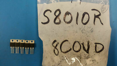 (5 PCS) S8010R TECCOR Thyristor SCR 800V 10A 3-Pin(3+Tab) TO-220AB Non-Isolated