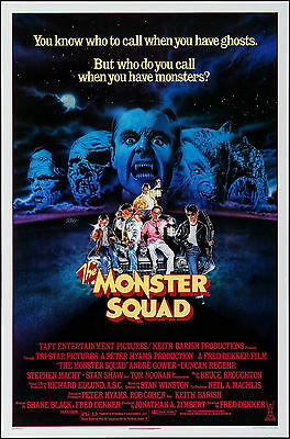 """Poster The Monster Squad 1987 27""""x41"""" NM 9.0 Andre Gower Robby Kiger"""