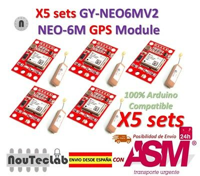 5pcs GY-NEO6MV2 NEO-6M GPS Module NEO6MV2 with Small Antenna for Arduino