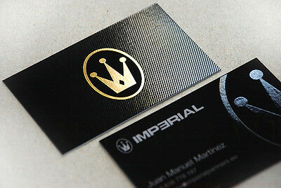 250 500 1000 business cards HOT FOIL STAMPING gold silver etc +spot UV +embossed