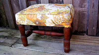 Vintage Mid Century Danish Modern Footstool Antique Home & Garden Ottoman Bench