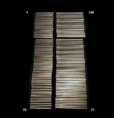 Lot Of 140 Scrap Ram Gold Fingers High Yield Double Sided Computer Gold Recovery