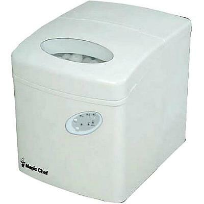 New Magic Chef Compact Portable Countertop Ice Maker in White MCIM22TW