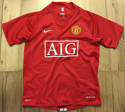 2009 Premier League Manchester United Home Soccer Football Shirt Jersey Size S