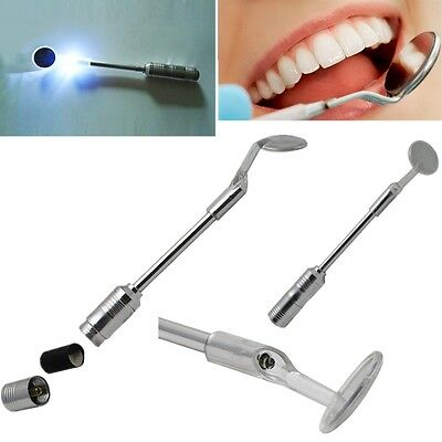 New Bright Durable Dental Mouth Mirror with LED Light stainless steel handle
