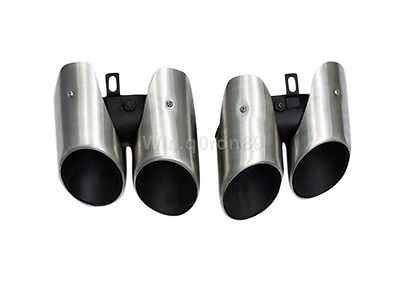For Porsche Panamera 970 2014 2015 Stainless Tail End Pipe Exhaust Muffler Tip