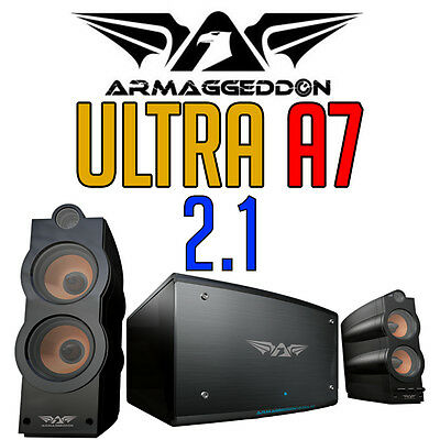 Armaggeddon Ultra A7 Heavyweight Gaming Computer Stereo Speakers 2.1 Channel NEW