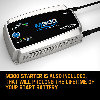 M300 Marine Caravan Boat Smart Battery Charger 12 Volt 25 Amp Deep Cycle