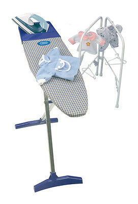 Kids pretend play Casdon Ironing Toy Set Includes Ironing Table with Accessories