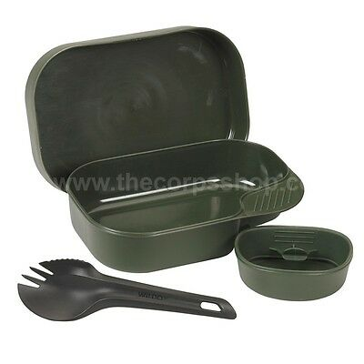 Wildo® Camp-A-Box Light, Camping Outdoor Mess Set With Cup Spork & Lid Swedish