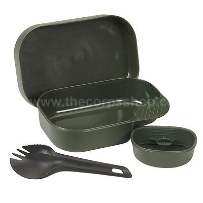 Wildo Camp A Box Light Camping Outdoor Mess Set With Cup Spork & Lid Swedish