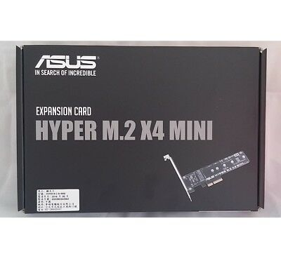 ASUS Hyper M.2 x 4 MINI M.2  PCIe Adapter Card for Z170 H170 X99 Z97 H97 B85